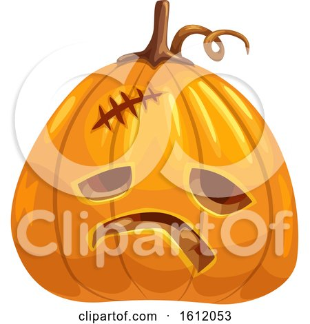 Clipart of a Jackolantern Halloween Pumpkin - Royalty Free Vector Illustration by Vector Tradition SM