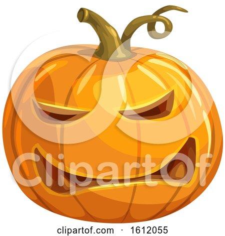 Clipart of a Jackolantern Halloween Pumpkin - Royalty Free Vector Illustration by Vector Tradition SM