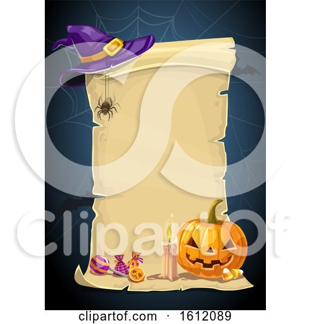 Clipart of a Halloween Scroll - Royalty Free Vector Illustration by Vector Tradition SM