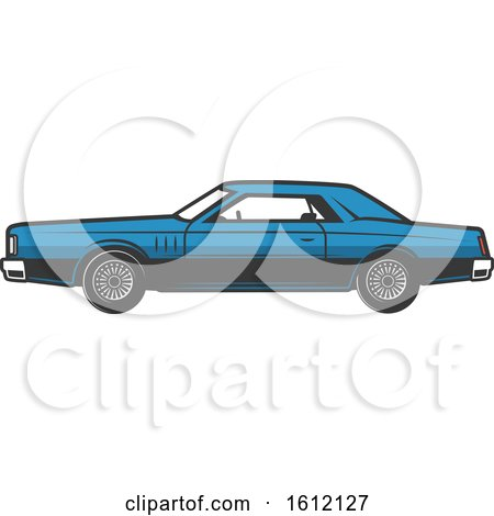 Clipart of a Vintage Car - Royalty Free Vector Illustration by Vector Tradition SM