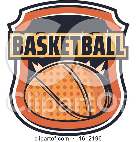 Clipart of a Basketball Sports Design - Royalty Free Vector Illustration by Vector Tradition SM