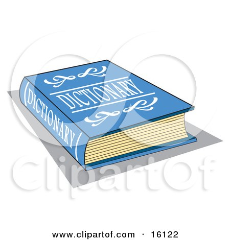 Blue Dictionary Book With White Text On The Cover Posters, Art Prints