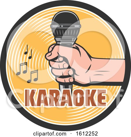 Clipart of a Karaoke Music Design - Royalty Free Vector Illustration by Vector Tradition SM