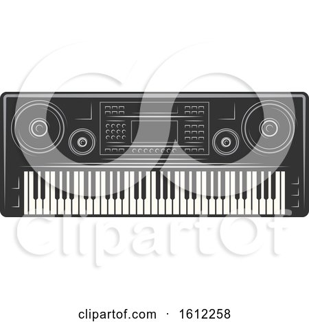 Clipart of a Music Design - Royalty Free Vector Illustration by Vector Tradition SM