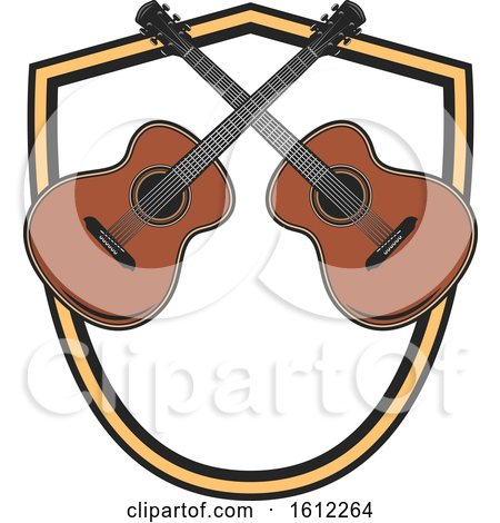 Clipart of a Guitar Music Design - Royalty Free Vector Illustration by Vector Tradition SM