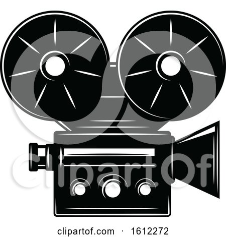 Clipart of a Cinema Movie Projector - Royalty Free Vector Illustration by Vector Tradition SM