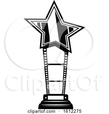 Clipart of a Cinema Movie Trophy - Royalty Free Vector Illustration by Vector Tradition SM