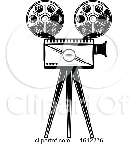 Clipart of a Cinema Movie Camera - Royalty Free Vector Illustration by Vector Tradition SM