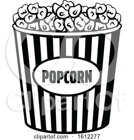 Clipart of a Cinema Movie Popcorn Bucket - Royalty Free Vector Illustration by Vector Tradition SM