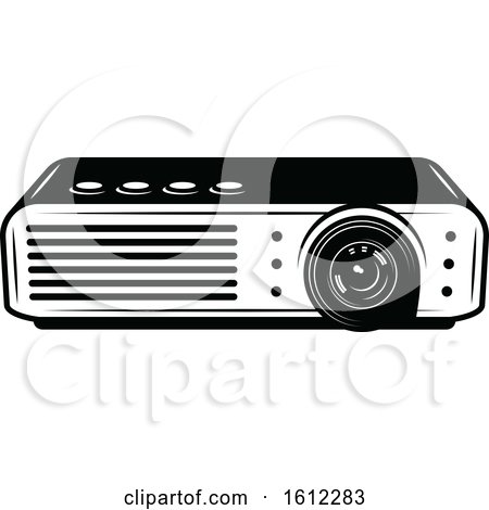 Clipart of a Movie Projector - Royalty Free Vector Illustration by Vector Tradition SM