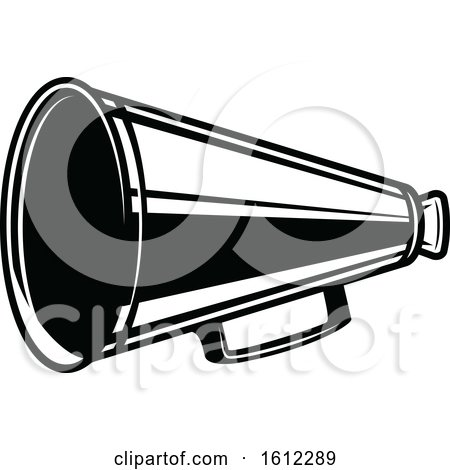 Clipart of a Cinema Movie Megaphone - Royalty Free Vector Illustration by Vector Tradition SM