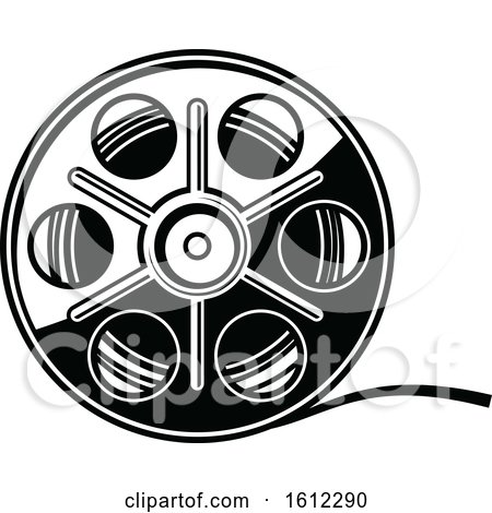 Clipart of a Cinema Movie Film Reel - Royalty Free Vector Illustration by Vector Tradition SM
