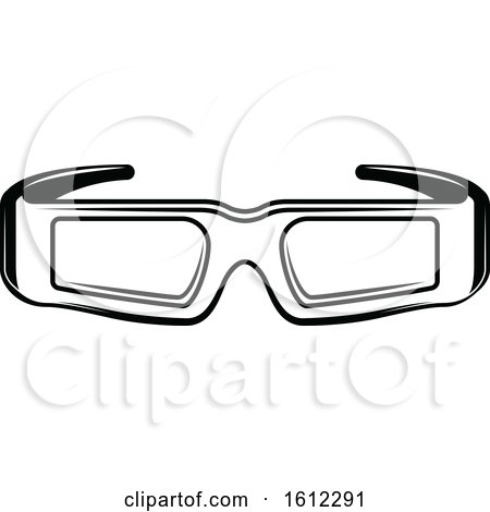 Clipart of a Cinema Movie Pair of 3d Glasses - Royalty Free Vector Illustration by Vector Tradition SM
