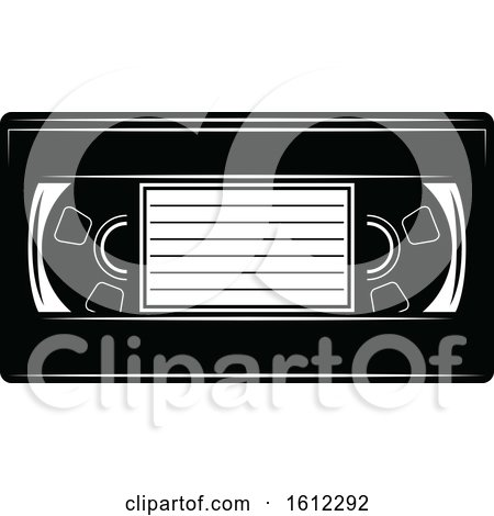 Clipart of a Cinema Movie Vhs Tape - Royalty Free Vector Illustration by Vector Tradition SM