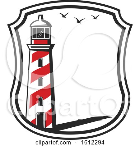 Clipart of a Lighthouse - Royalty Free Vector Illustration by Vector Tradition SM