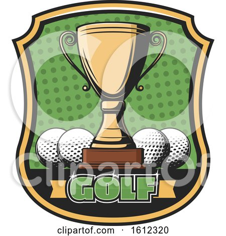 Clipart of a Golf Championship Sports Design - Royalty Free Vector Illustration by Vector Tradition SM