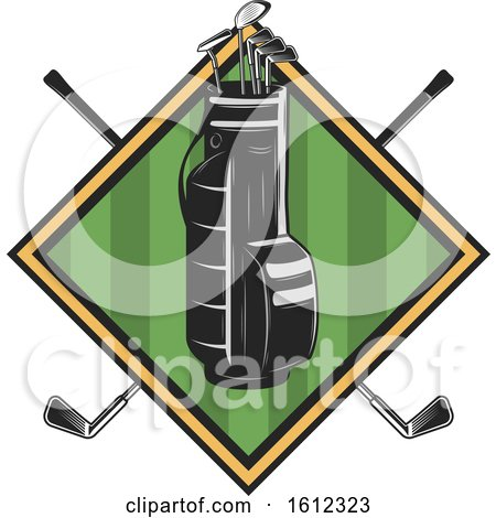 Clipart of a Golf Sports Design - Royalty Free Vector Illustration by Vector Tradition SM