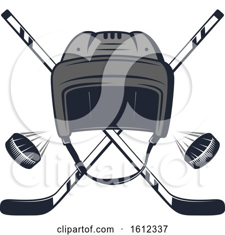 Clipart of a Hockey Sports Design - Royalty Free Vector Illustration by Vector Tradition SM
