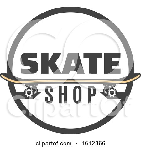 Clipart of a Skateboard Skate Shop Design - Royalty Free Vector Illustration by Vector Tradition SM