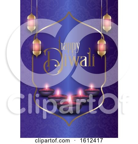 Decorative Background for Diwali by KJ Pargeter