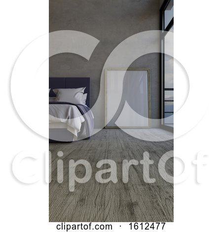 3D Contemporary Bedroom Interior by KJ Pargeter