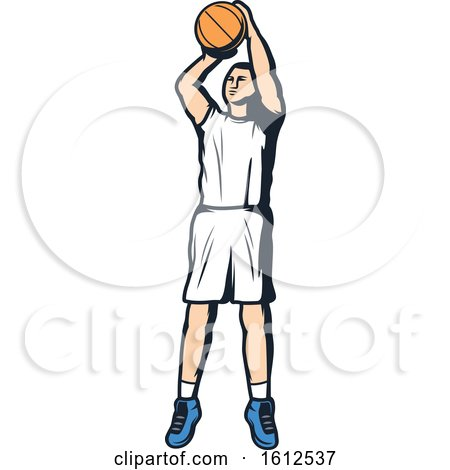 Clipart of a Baskeball Player - Royalty Free Vector Illustration by Vector Tradition SM