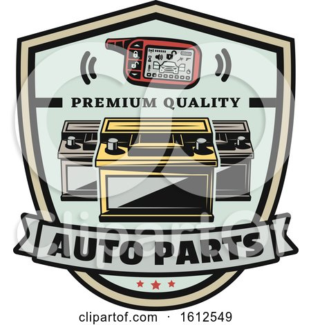 Clipart of a Car Auto Parts Design - Royalty Free Vector Illustration by Vector Tradition SM