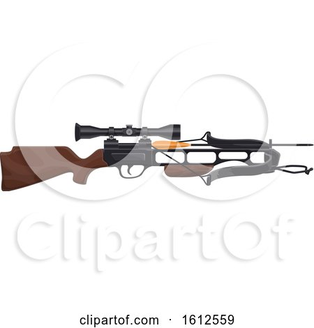 Clipart of a Hunting Crossbow - Royalty Free Vector Illustration by Vector Tradition SM