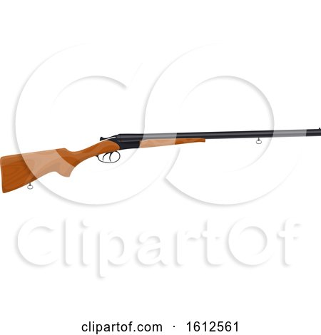 Clipart of a Hunting Rifle - Royalty Free Vector Illustration by Vector Tradition SM