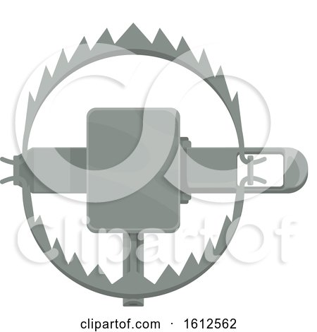 Clipart of a Hunting Trap - Royalty Free Vector Illustration by Vector Tradition SM