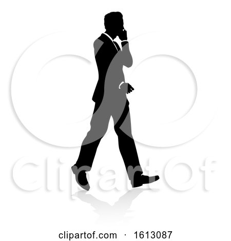 Business Person Silhouette, on a white background by AtStockIllustration