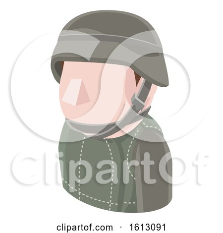 Soldier Avatar People Icon by AtStockIllustration