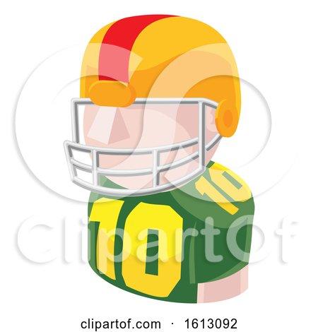 Football Player Avatar People Icon by AtStockIllustration