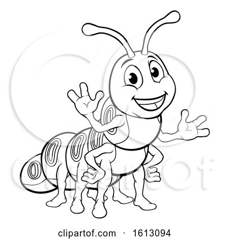Caterpillar Animal Cartoon Character by AtStockIllustration