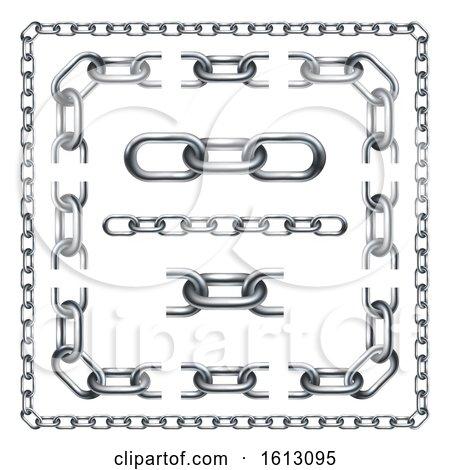 Chain Links Graphic Design Set by AtStockIllustration