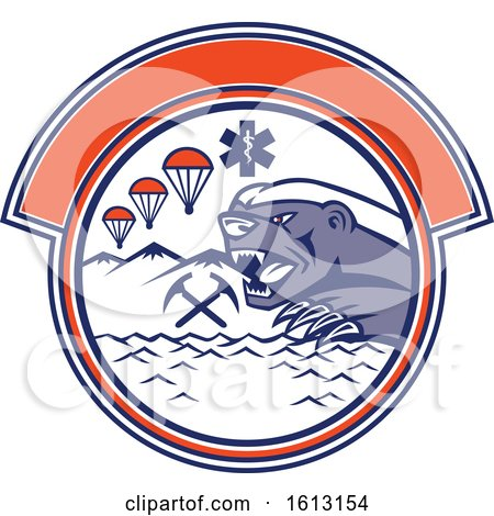 Land Sea and Air Rescue Design with a Honey Badger Mascot by patrimonio