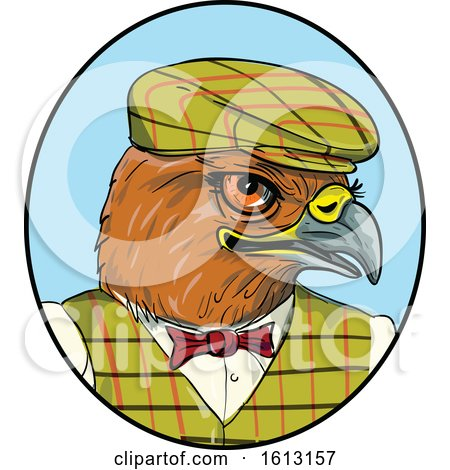 English Hawk Outdoors Man by patrimonio