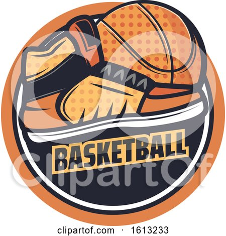 Clipart of a Basketball Design - Royalty Free Vector Illustration by Vector Tradition SM