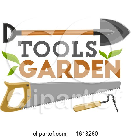 Clipart of Garden Tools - Royalty Free Vector Illustration by Vector Tradition SM