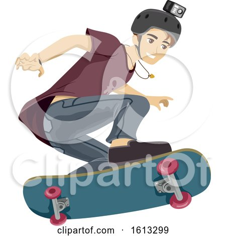 Teen Boy Skateboard Video Illustration by BNP Design Studio