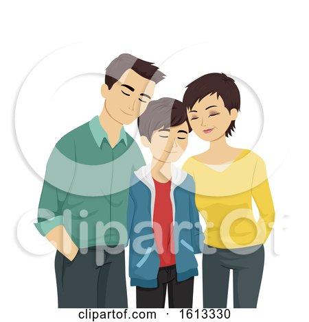 Teen Gay Parents Acceptance Illustration by BNP Design Studio