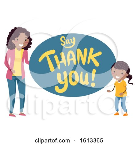 Stickman Kids Mom Say Thank You Illustration by BNP Design Studio