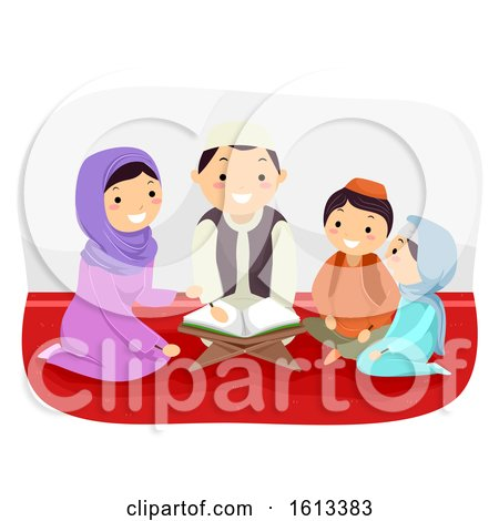 Stickman Family Study Quran Illustration by BNP Design Studio