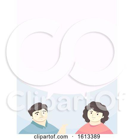 Girl Man Parents Speech Bubble Illustration by BNP Design Studio