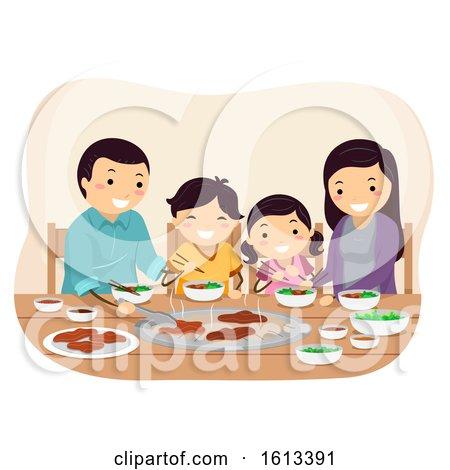 Stickman Family Barbecue Restaurant Illustration by BNP Design Studio