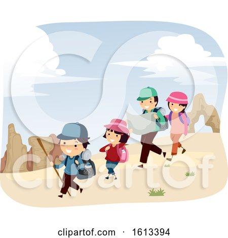 Stickman Family Desert Adventure Illustration by BNP Design Studio