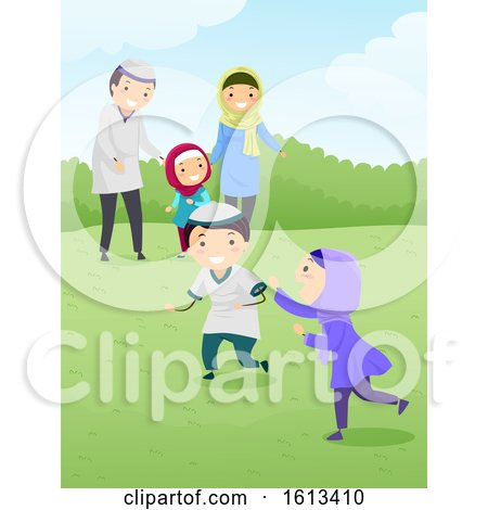 Stickman Family Muslim Bonding Play Outdoor by BNP Design Studio