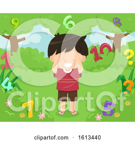 Kid Boy Hide Seek Numbers Illustration by BNP Design Studio