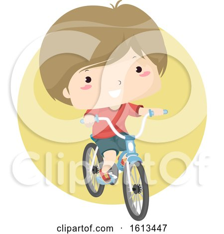 Clipart Boy Riding a Bicycle by BNP Design Studio