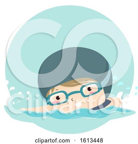 Clipart Boy Swimming by BNP Design Studio